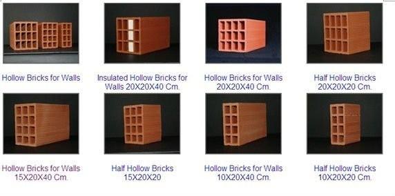 Solid And Hollow Brick Samples Of Zhengtai Clay Brick Machine